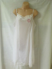 Ladies Womens Full Cling Resist Slip Under Skirt Sz 12 Cream