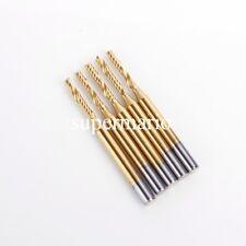 5x 1/8'' Titanium Coated N2 Carbide One Single Flute CNC Router Bit 2mm x15mm us