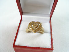""".50 Ct. Diamond """"Heart""""  10K Yellow Gold Plated Sterling Silver Ring"""