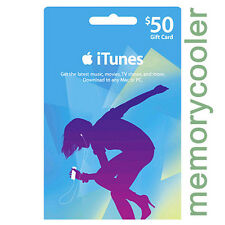 iTUNES $50 GIFT CERTIFICATE CARD Karte 50 USD APPLE iPhone iPod iPad Key Code US