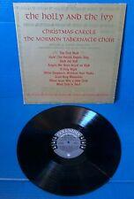 THE HOLLY AND THE IVY Christmas CAROLS MORMON TABERNACLE CHOIR CHRISTMAS LP 1960