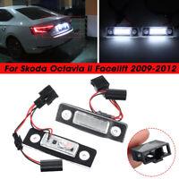 2x LED Number License Plate Light Lamp for Skoda Octavia Roomster 5J Error Free