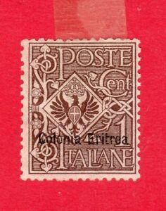 ITALIA COLONIA ERITREA 1903-1922 Y&T 19* SELLO DE ITALIA SOBRECARGADO