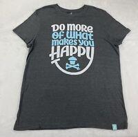 Johnny Cupcakes Men's Gray Short Sleeve T Shirt size 2XL Happy
