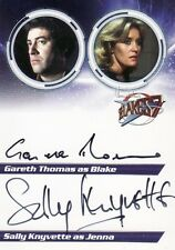 Blakes Blake's 7 Series 1 Gareth Thomas & Sally Knyvette S1TK Dual Auto Card
