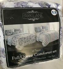 Parklane 4 Piece Full/Queen Reversible Comforter Set Including Decorative Pillow