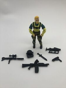 GI JOE ~ 1993 LOW LIGHT ~ DINO HUNTERS ~UNCRACKED ELBOWS ~ 100% COMPLETE AWESOME