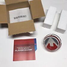 NEW Marlboro Flavor Chase Glass Round Ashtray Tobacco Cigarettes Collectible