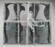 Vase Amphore Dekoration Polyresin Silber Antik glanz 3-er Geschenkset ваза