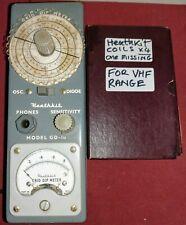 Heathkit GD-1U radio amateur Grid DIP Meter Inc 4 bobines voir photos QRP