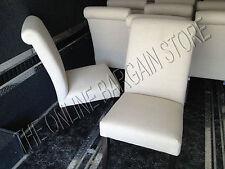 Pottery Barn Comfort Upholstered Dining Armless Side Slipper Chair linen Set 2