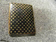 VINTAGE BRASS AND ENAMEL COLIBRI CIGARETTE CASE - FLEURS DE LYS DESIGN - RARE