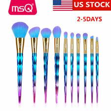 US 10pcs Makeup Brush Set Cosmetic Foundation Blending Kabuki Pencil Brushes Kit