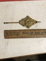 Vintage Antique Key  Wind Clock Pendulum Brass