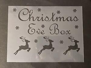 Christmas Eve Box Stencil Xmas Reindeer Stencils Arts & Crafts ReusableA5