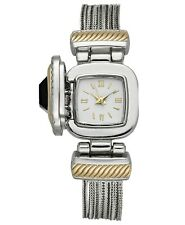 Charter Club Women's Two-Tone Jet Stone Case Cover Chain Bracelet Watch 25mm