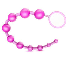 Eden- Soft Flexible Jelly 10 Bead Vaginal and Anal Beads - Sex Toy for Women