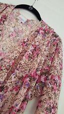 LARGE LuLaRoe SHIRLEY vintage LACE ROSES bridal pink purple kimono wrap NWT L