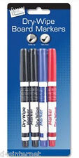 Dry Wipe Whiteboard Pens Non Toxic Bullet Tip For School, Office Wipe Clean Book