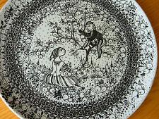 """Vintage Bjorn Wiinblad Nymolle Denmark Autumn Seasons Plate 10 3/4"""" 3052-1278"""