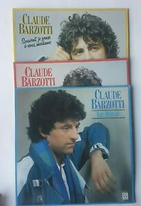 LOT des 3 Albums de CLAUDE BARZOTTI : LE RITAL / MADAME / BEAU ♦ LP 33 Tours