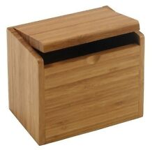 Recipe Card Box - Bamboo, for 4 x 6 and 3 x 5 cards, New, Meadowsweet Kitchens