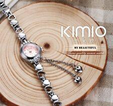 Ladies Fashion KIMIO Branded Heart Love Bracelet Quartz Women Watches