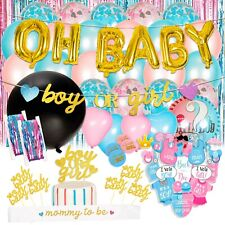 Gender Reveal Party Supplies,  Baby Shower Boy or Girl Reveal Kit (116 Pieces)