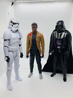 "Star Wars Imperial Storm Trooper, FINN & Darth Vader 12"" Action Fig Lot Of 3 #8"