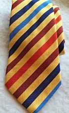 "Charles Tyrwhitt London Silk Tie Diagonal Stripes Yellow Made Italy 60"" Dad Gift"