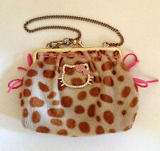 VINTAGE SANRIO HELLO KITTY VIVITIX LEOPARD PURSE NEW