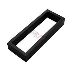 200mm Matt Black Square Single Hand Towel Rack Rail Holder SS304 Wall Mount Ring