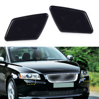 2x Front Headlight Washer Jet Nozzle Cover Cap 39991799 Fit For Volvo V50 S40 ut