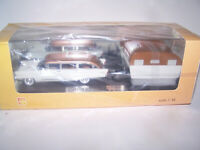 1956 Lincoln Pioneere Station Wagon estate with traier GIM 1/43  Matrix GLM NEO