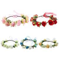 Baby Kids Children Flower Floral Hairband Wedding Party Girls Crown Headbands