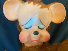 """Pouting Vintage Bear 12"""" Knickerbocker, NY, fill is feather foam."""