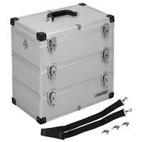 anndora Werkzeugkoffer 41 L silber Tackel Box Alukiste 3 Etagen Koffer Alukoffer