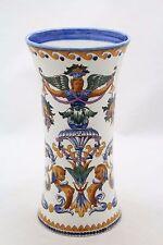 antique ceramic Vase Faience de Gien (?) Renaissance Italienne, 22cm, 8.6inch