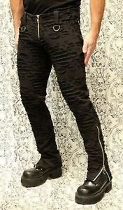 Shrine Decayed Dead Punker Bondage Goth Punk Rocker Skinny Pants Mens S-2Xl