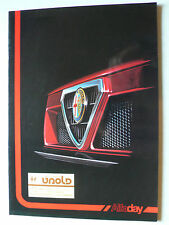 Prospekt Alfa Romeo Alfaday-Historie:1900,Giulietta SS,Giulia Bertone,75, ca1989