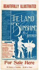 LOS ANGELES POSTER 1897 CHARLES LUMMIS BULLFIGHT ARTS & CRAFTS SANTA BARBARA
