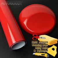 "36"" x 60"" Super Gloss Red Vinyl Film Wrap Sticker Air Bubble Free 3ft x 5ft"