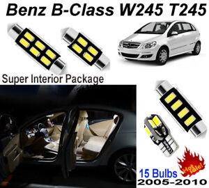 15pcs White 5630 LED Interior Light Kit For Benz B-Class W245 T245 2005-2011