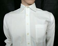 Aquascutum Mens White Dress Shirt Size 15 - 38cm UK S Chest 40 Wedding