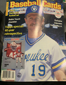 Baseball Cards Magazine September 1990 Robin Yount w/Mint Cards