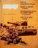 "Vintage ""Campaign"" #91 Magazine 1979 Panzerkreig A Review"
