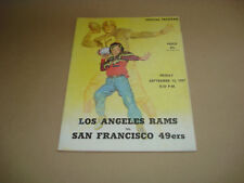 S.F. FORTY NINERS VS LOS ANGELES RAMS ~ GAME DAY PROGRAM ~ SEPTEMBER 13, 1957