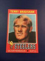 1971 Topps # 156 TERRY BRADSHAW ROOKIE REPRINT Pittsburgh Steelers SWEET LOOK !
