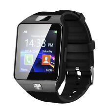 DZ09#Bluetooth Smart Watch Phone Mate GSM SIM For Android iPhone Samsung (Black)