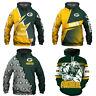 Green Bay Packers Hoodie 3D Print Sweatshirt Football Hooded Pullover Jacket Top